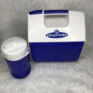 Vintage Igloo Little Playmate Cooler Thermos Set